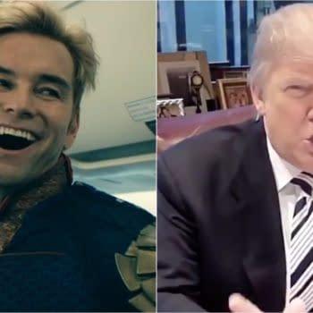 The Boys showrunner/EP Eric Kripke isn't dure Donald Trump supporters get the show (Image: Amazon Prime/screencap)