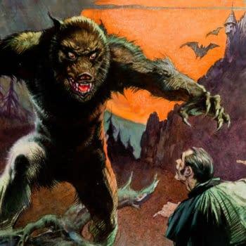 Frank Frazetta Wolfman original artwork cover for Creepy #4, Warren Publishing.