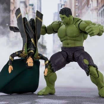 Hulk Smashes His Way In With New Avengers Figure from S.H. Figures