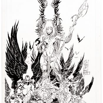 Marc Silvestri and Batts The Darkness #3 Cover Art For Auction