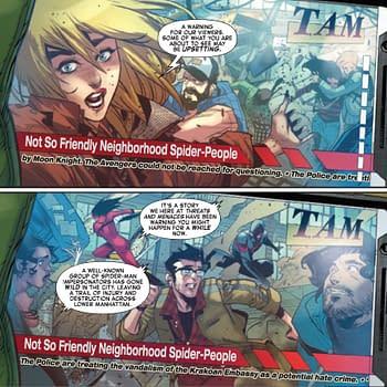 Media Reports Of Riots in Manhattan &#8211 In Amazing Spider-Man #51.LR