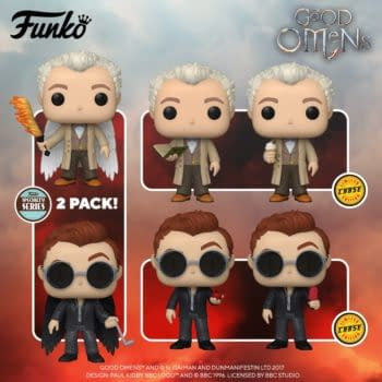 Good Omens Aziraphale and Crowley Pop Vinyls Revealed from Funko
