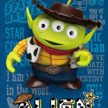 Alien Remix Toy Story Woody Beams Up With Beast Kingdom