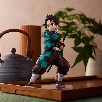 Demon Slayer Tanjiro Kamado Pop Up Statue Unveiled by Good Smile