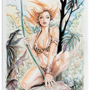 Bidders Take Aim At Original Art For Chris Delaras Robyn Hood Cover