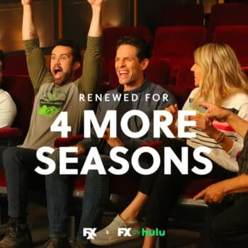It's Always Sunny in Philadelphia: The Gang responds to making history. (Image: FX Networks)