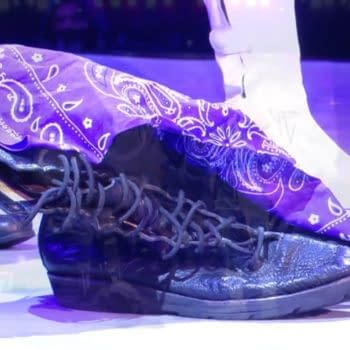 On AEW Dynamite's Brodie Lee tribute episode, Lee's son retired Lee's boots in the ring.