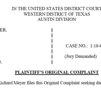Richard Meyer Has Voluntarily Dismissed Lawsuit against Mark Waid