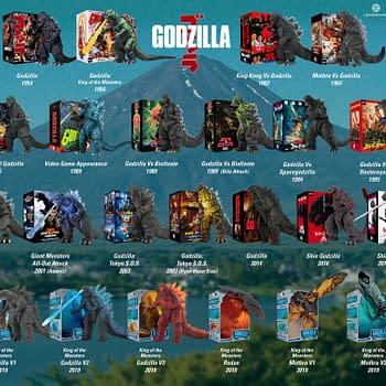 NECA Starts 12 Days of Downloads with Godzilla Visual Figure Guide