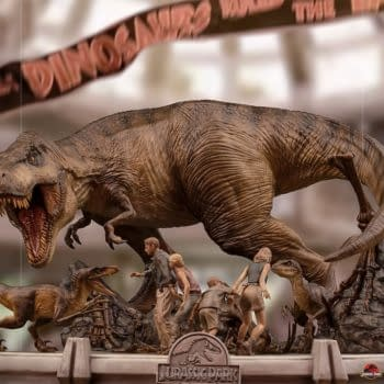 The Final Scene of Jurassic Park Comes to Life with Iron Studios