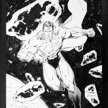 Jim Lee Superman Wizard Cover Art Taking Bids At Comic Connect