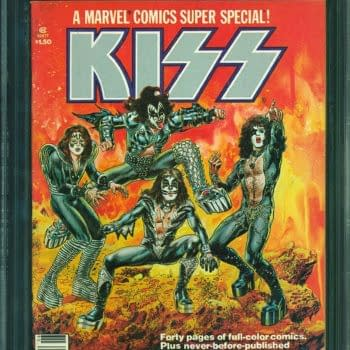 KISS Marvel Comic CGC 9.6 On Auciton At ComicConnect