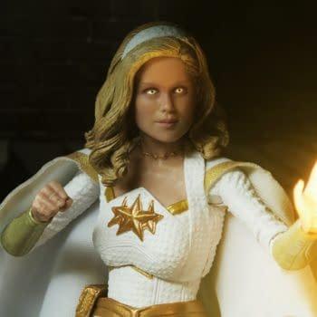 NECA Shows Teaser Images For The Boys Homelander and Starlight