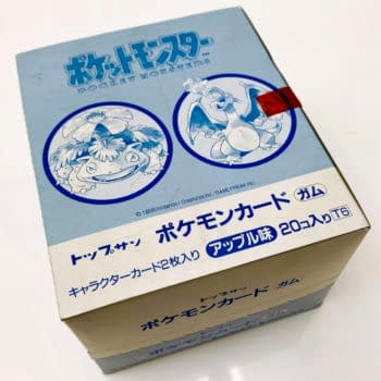 POKEMON 1995 JAPANESE BOOSTER BOX #0 published by Topsun, photo via Comic Connect.