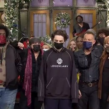 SNL Cast, Timothee Chalamet & The Boss Offer Best Effort This Season (Image: NBCU/Broadway Video screencap)