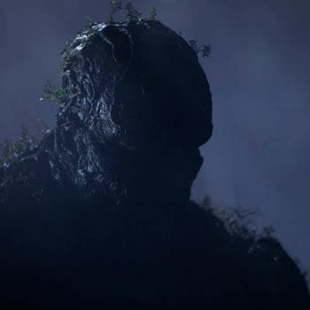"""Swamp Thing -- """"Long Walk Home"""" -- Image Number: SWP108c_0196r -- Pictured: Derek Mears as Swamp Thing -- Photo: Fred Norris / 2020 Warner Bros. Entertainment Inc. -- © 2020 Warner Bros. Entertainment Inc. All Rights Reserved."""