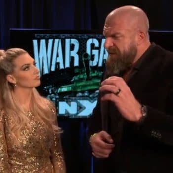Triple H is interviewed by McKenzie Mitchell ahead of NXT Takeover WarGames