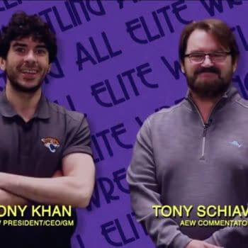 """Tony Khan and Tony Schiavone appear during a """"paid ad"""" on Impact Wrestling"""