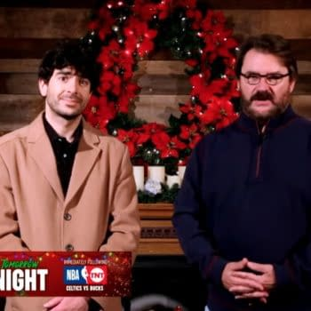 """Tony Khan and Tony Schiavone appear in a holiday-themed """"commercial"""" on Impact Wrestling to invite the Impact stars to AEW Dynamite"""