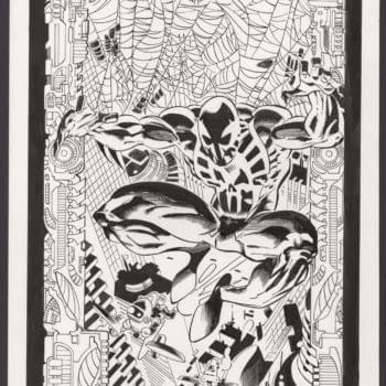 Spider-Man 2099 David A. Roach #1 Art Recreation On Auction