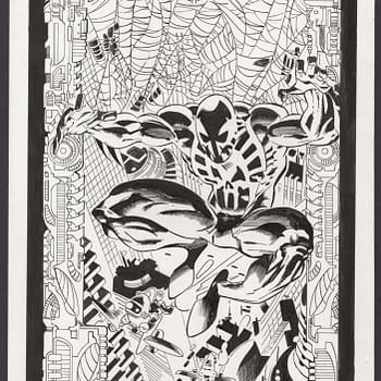 Spider-Man 2099 David A. Roach #1 Art Recreation On Auction