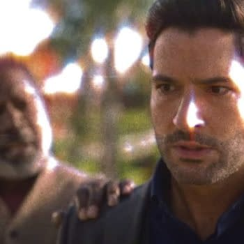 Lucifer dropped a small clip from Season 5b on New Year's Eve. (Image: Netflix screencap)