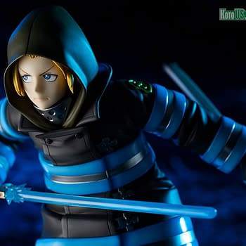 Fire Force Arthur Boyle Brings the Heat and Excalibur to Kotobukiya
