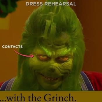 Saturday Night Live released some rehearsal footage from The Grinch sketch. (Image: NBC screencap)