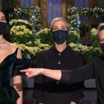 Saturday Night Live released new promos with Kristen Wiig, Kate McKinnon, and Dua Lipa. (Image: NBC screencap)