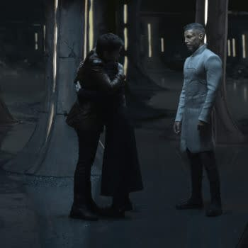 """""""The Hope That is You, Part 2"""" — Ep#313 — Pictured: Blu del Barrio as Adira, Ian Alexander as Gray and Wilson Cruz as Dr. Hugh Culber of the CBS All Access series STAR TREK: DISCOVERY. Photo Cr: Michael Gibson/CBS ©2020 CBS Interactive, Inc. All Rights Reserved."""