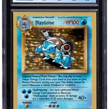 Pokémon TCG 8.5-Graded Galaxy Star Blastoise Card On Auction