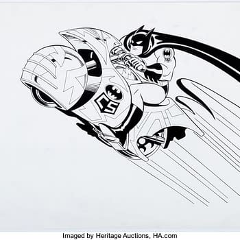Batman Carmine Infantino Tiy Package Art On Auction Over AT Heritage