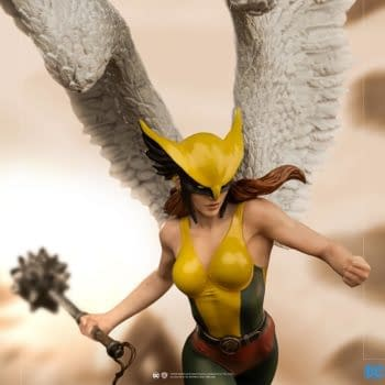 Hawkgirl Makes Her Newest Landing at Iron Studios
