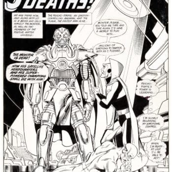 Crisis On Infinite Earths Splash Page On Auction At Heritage Right Now