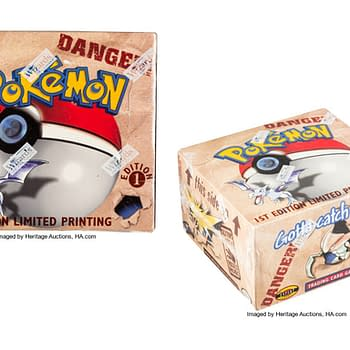 1st Edition Booster Box of Pokémon TCG Fossil Expansion Hits Auction