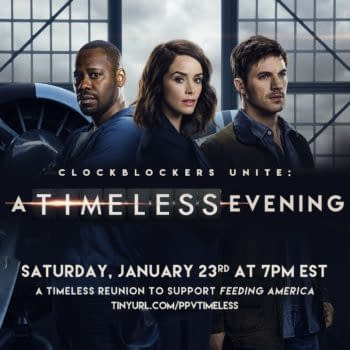 Timeless Team Calls on Clockblockers to Unite for a Great Cause (Image: NBCU)