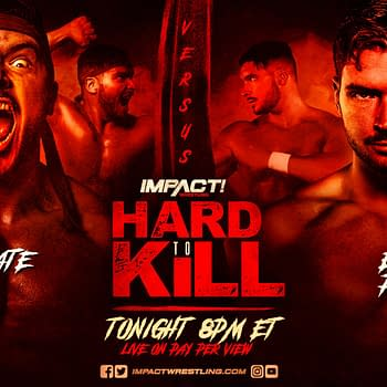 Match graphic for Ethan Page vs. Karate Man at Hard to Kill
