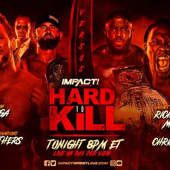 Match Graphic for the main event of Impact's Hard to Kill