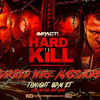 Match graphic for Barbed Wire Massacre at Impact Hard to Kill