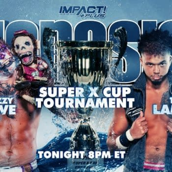 Match graphic for Tre Lamar vs. Crazzy Steve at Impact Genesis