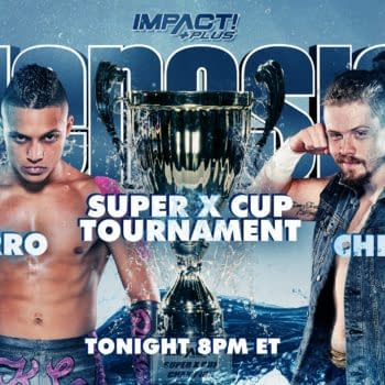 Match graphic for K.C. Navarro vs. Blake Christian at Impact Genesis