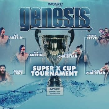 The final brackets for the Super X Cup tournament