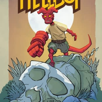 Craig Rousseau's Young Hellboy Cover For Forbidden Planet And Jetpack