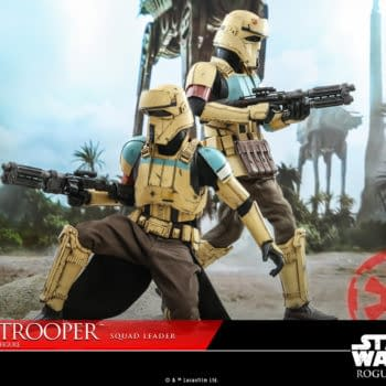 Star Wars Rogue One Shoretrooper Squad Leader Deploys At Hot Toys