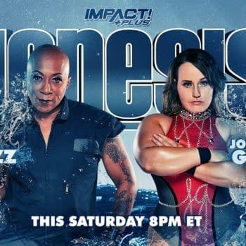 Match graphic for Jazz vs. Jordynne Grace at Impact Genesis