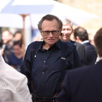 LOS ANGELES - APRIL 26: Larry King at the celebrity chef, restaurateur Wolfgang Puck's Hollywood walk of fame star receiving ceremony at Hollywood Blvd on April 26, 2017 in Los Angeles, CA. (Image: Hayk_Shalunts / Shutterstock.com)