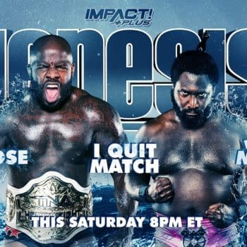 Match graphic for Moose vs Willie Mack at Impact Genesis