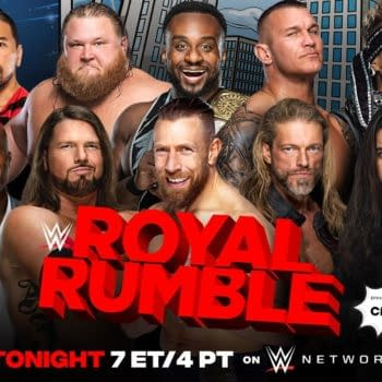 Match graphic for the mens Royal Rumble match.