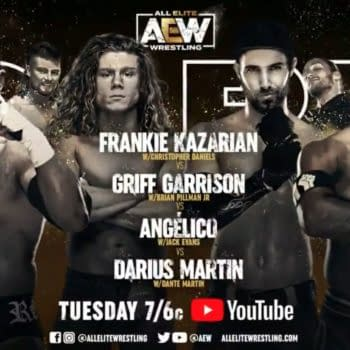 In a Fatal Four-Way match on Dark, Frankie Kazarian, Griff Garrison, Angelico, and Darius Martin will face each other.
