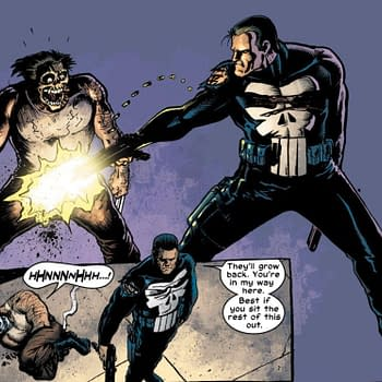 This scene from Punisher #17 (2002) represents the oldest known reference to the fact that Wolverine has two dicks.